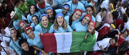 Cracovia 27 luglio 2016. GMG 2016 La festa dei giovani dall'Italia
